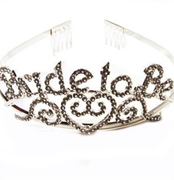 The NICEST Bride to be Tiara you will find - this tiara has real rhinestones! It's perfect for a Bachelorette Party or Bridal Shower! Just $10.99 at The House of Bachelorette!