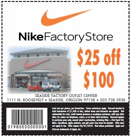 Nike discount coupons in store