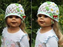 Häkelanleitung für Kindermütze Erdbeerfeld