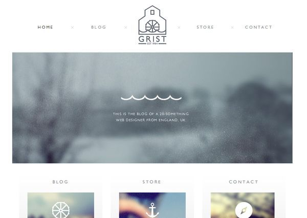 31 Super Clean Websites For Inspiration - DzineBlog.com - love the anchor and ship wheels :)