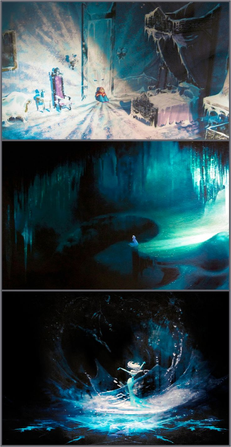 Frozen (2013) concept art, the journey of Elsa