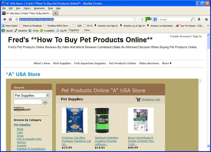 I like shopping at an Amazon Online Web Store In The USA at http://PetProductsOnline.info/a-usa-store