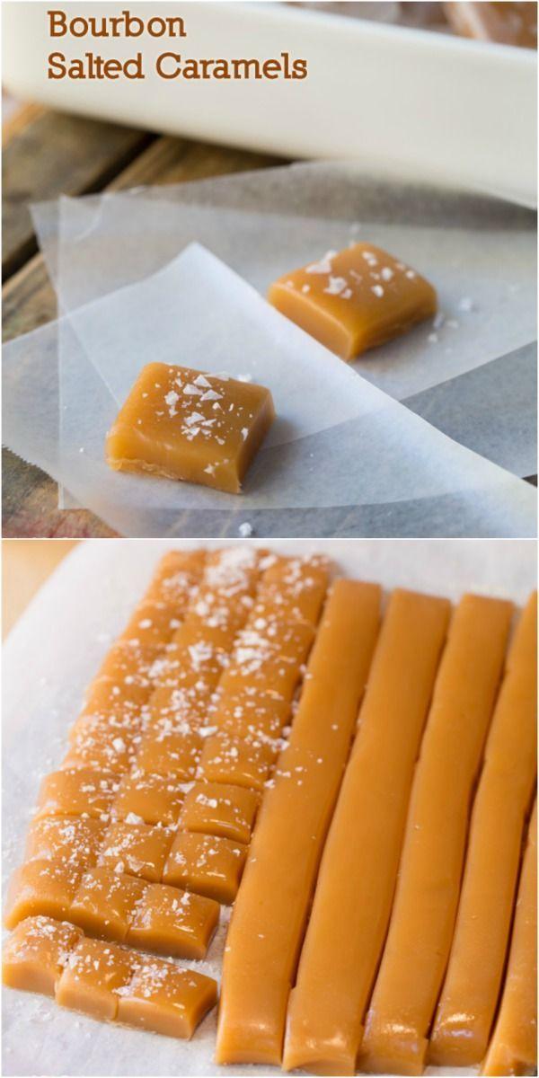 Bourbon Salted Caramels