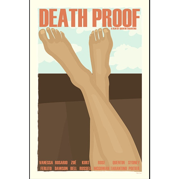 Film poster Death Proof 12x18 inches retro print by ClaudiaVarosio, £12.00