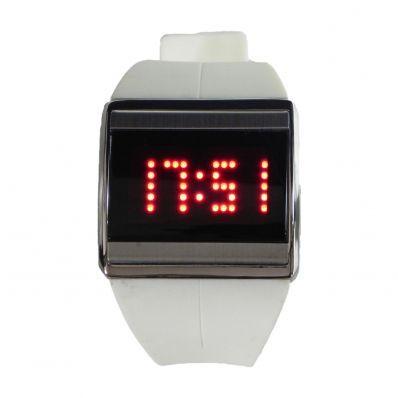 19,00 € ----- Montre tactile mixte blanche.  Marque : Bellos.  En avance sur son temps, une simple pression du doigt suffit à vous indiquer l'heure. Vous pourrez ainsi exercer vos doigts de fée ou de prince à loisir. C'est l'avenir ! Une montre design qui sera fort utile aux femmes et aux hommes multi-tâches à l'emploi du temps serré.
