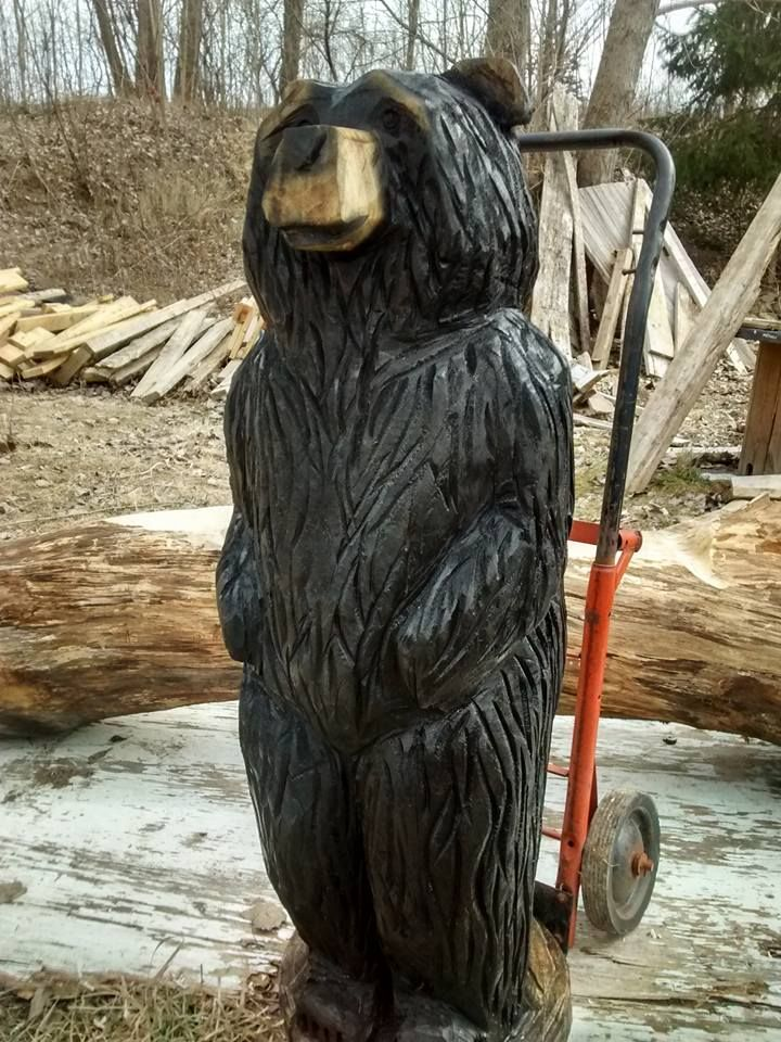 Best images about wooden bear carvings on pinterest