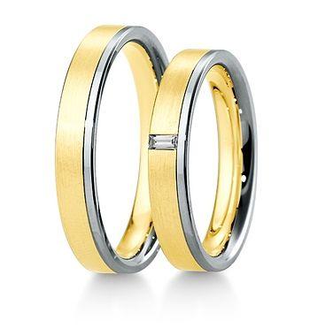 Breuning Trouwringen | Inspiration collectie gouden ringen | 4mm briljant bagette 0.06ct verkrijgbaar in 8,14 en 18 karaat | 48041470 / 48041480 OOK in wit geel en rood goud verkrijgbaar of in 2 kleuren goud #trouwringen