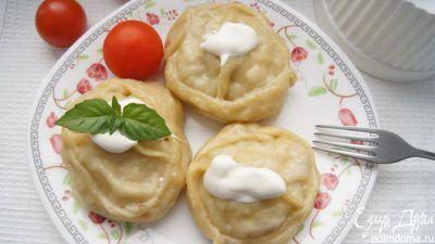 Манты со свининой и картофелем в пароварке