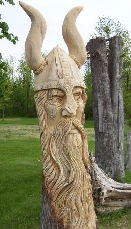 """I would love to have this in my front yard.  """"House protected by Vikings!"""""""