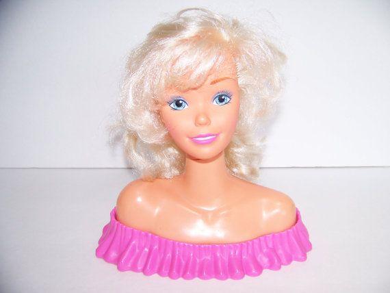 Doll Head Hair Styling: Vintage 1988 Barbie Doll Hair Styling Head Make Me Pretty