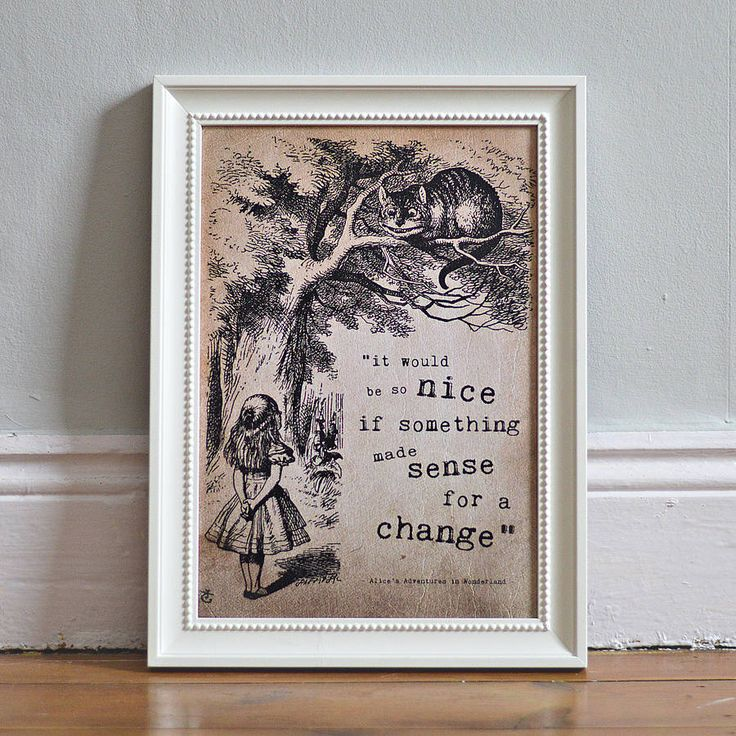 alice in wonderland poster print by i am nat | notonthehighstreet.com