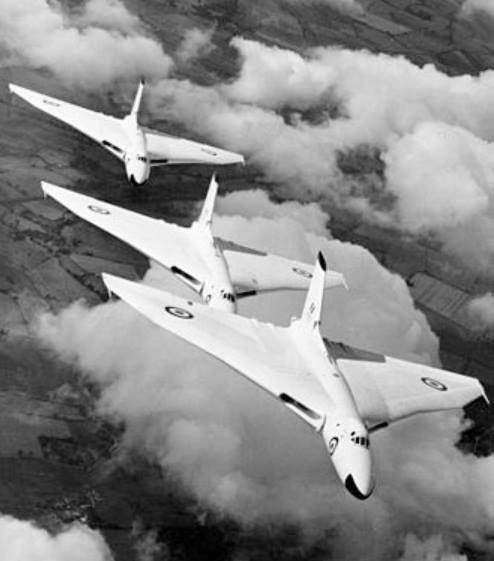 fact: Anti-flash white was used on the Royal Air Force V bombers force and the Royal Navy Blackburn Buccaneer for use in the nuclear strike role. British nuclear bombers were given though not at first until the problem was considered pale pink and blue roundels and fin flash rather than the traditional dark red white and blue (Info from Wikipedia).