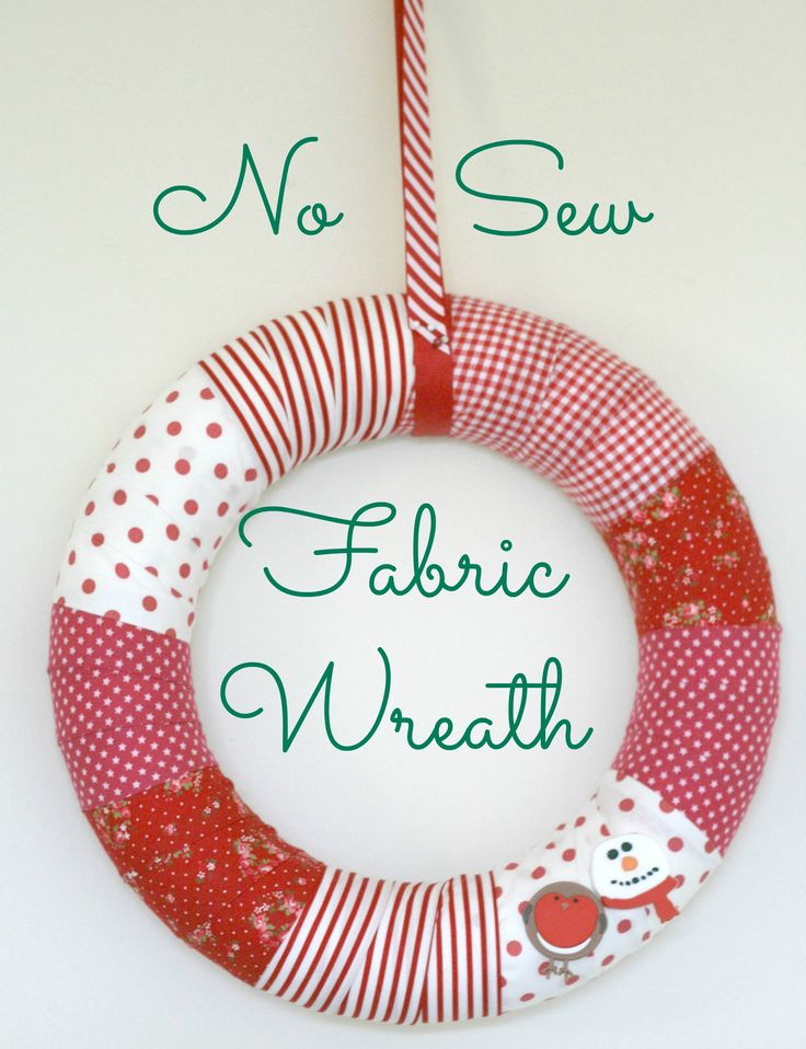 DIY No Sew Fabric Wreath for Christmas by Claireabellemakes