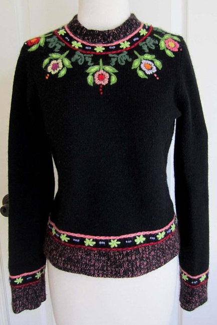 Lucky Brand Floral Knit Sweater