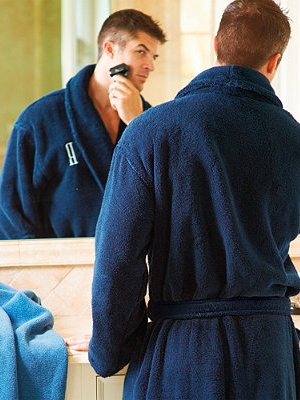 This comfy monogrammed bath robe looks like a great Father's Day gift!