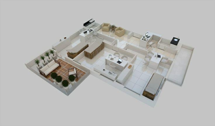 Planta isométrica - Torre Alpha - junção 2 salas Giardino (finais 2 e 3). Consultório Dermatológico.   http://planoeplano.com.br/imovel/time-center-campinas