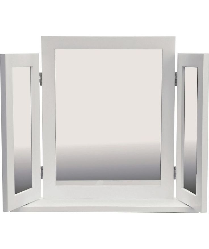 Buy white triple dressing table mirror at for Bathroom accessories argos