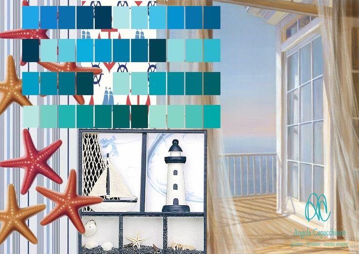 #CASAALMARE I #colori del #cielo e del #mare,l' #arredamento e le #decorazioni in #stilemarinaro, donano agli spazi quell'atmosfera di freschezza delle sere d' #estate.