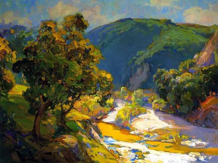 Franz Bischoff  Vista Arroyo, c. 1920  o/c, 30 x 40 inches