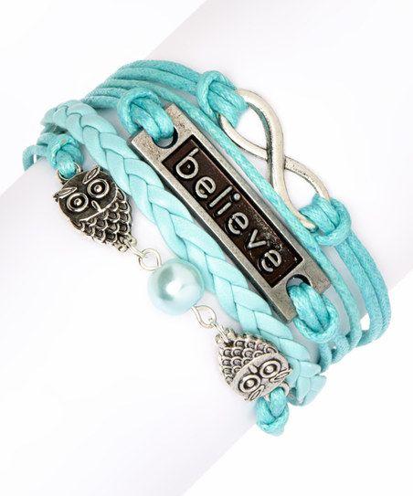 Blue Owls Braided Bracelet