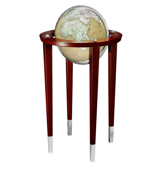 replogle discovery mckinley floor globe with stand with accents