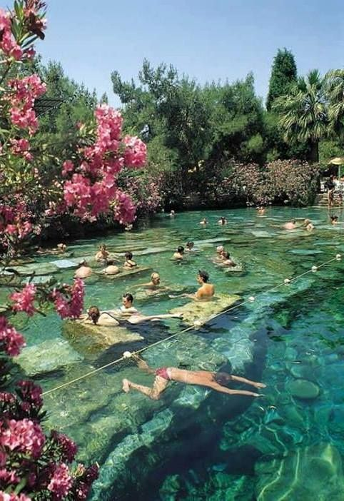 Wonderful ancient thermal pool (Pamukkale, Turkey)