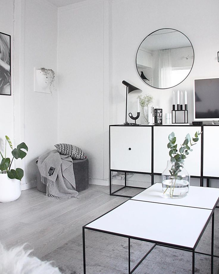 """#Eames House Bird in the mirror!!  """"A chic and bright look with the white Frame sideboards and Twin tables at the home of @fregnate ⠀…"""""""