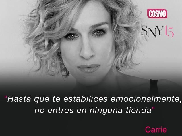 Bonita frase de Carrie de Sexo en Nueva York.