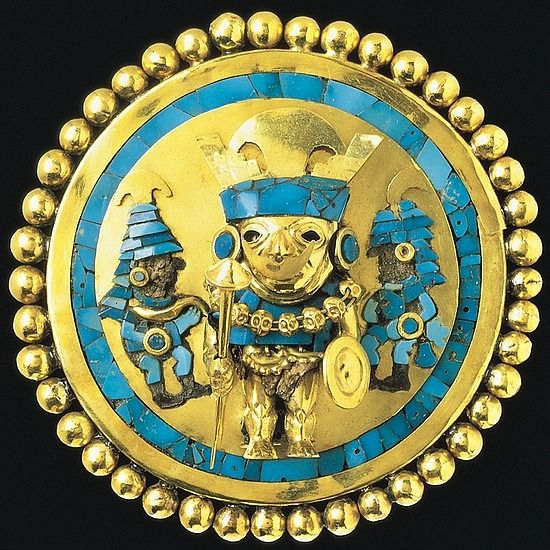 Earspool from Sipan, Peru - Moche culture, 2nd - 5th century CE.: Ancient Jewelry, Art Treasure, Enemies Shamanism, Earspool Illustrations, Earspool Figs 12 19, Century Peru, Art History, Ancient Peru, Ancient Art
