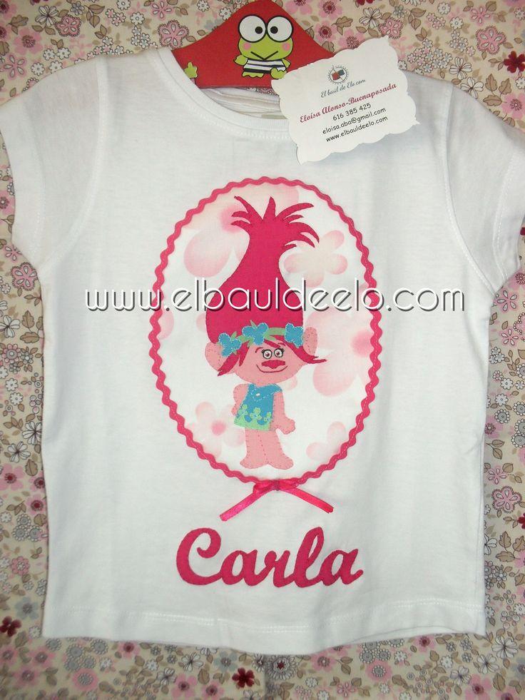 www.elbauldeelo.com aplicacion camiseta patchwork trolls Poppy