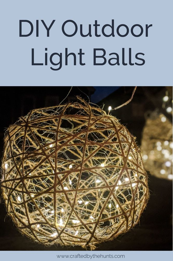 How To Make Diy Outdoor Light Balls Light Balls Diy Diy Christmas Lights Ball Lights