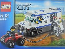 LEGO 60043 POLICE PRISONER TRANSPORTER TRUCK Set City(3 MiniFigures) NEW Sealed