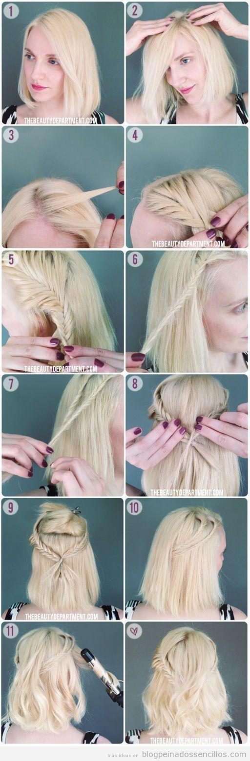 Semirrecogido para pelo corto, tutorial paso a paso