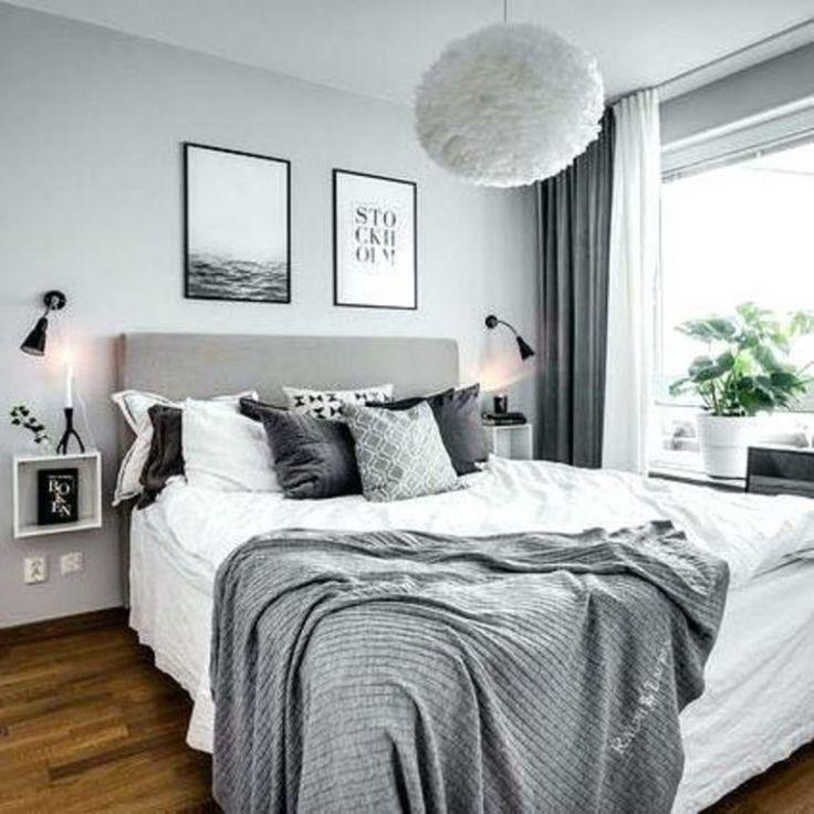 19 Schlafzimmer graues bett wandfarbe