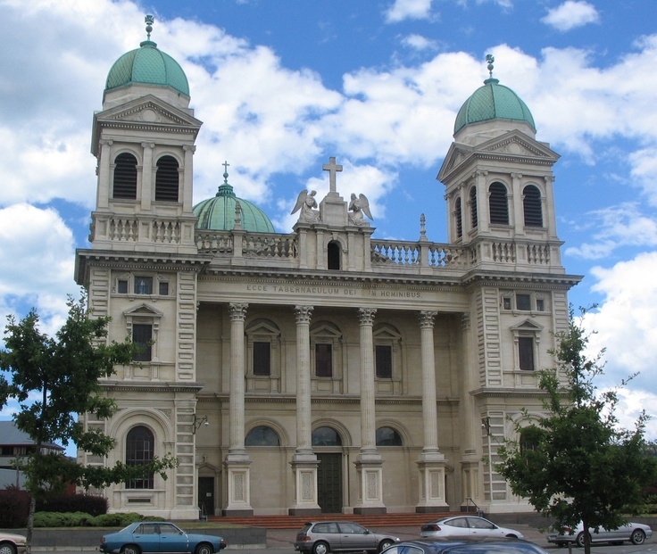 Cathedral of the Blessed Sacrament (Catholic Basilica), Christchurch, NZ. Built 1905 it was considered the finest Renaissance-style building in NZ and F.W. Petre's masterpiece   (photo: Marg Campbell)