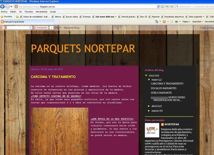 Este es nuestro #blog www.parquetsnortepar.blogspot.com.es AQUI TE DAMSO TODS LOS TRUCOS y SOLUCIONES a tus problemas con tu #pavimento