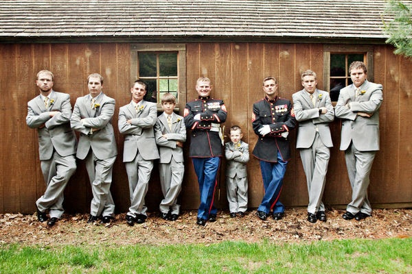 Would be neat with the reverends in their Class A's and the groomsmen!