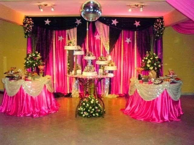 Decoracion con telas para 15 a os 4 decoraci n pinterest for Decoracion de pared para quince anos