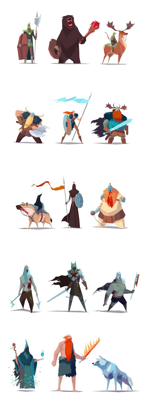 RTS game - Visual Development by Ariel Belinco, via Behance: