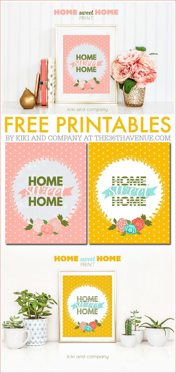 Printables - Home Sweet Home Print from Kiki and Company. LOVE!