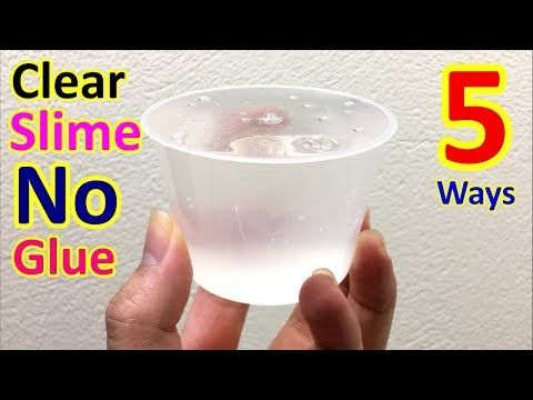 how to make slime without clear glue and borax