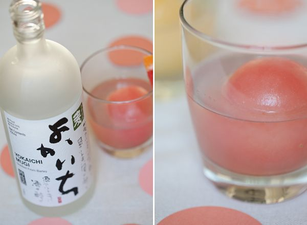 made with flavored ice balls and soju (a korean liquor similar to vodka but lighter and sweeter) sounds good to me!