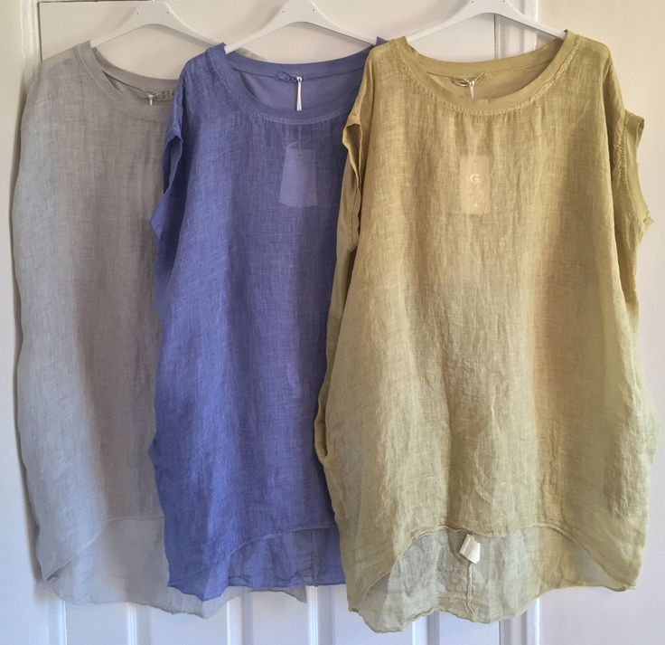 Ladies Oversized Lagenlook Lightweight Linen Layering Asymmetric Hem Tunic Top