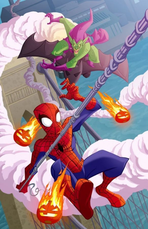 SPIDER-MAN BATTLES THE GREEN GOBLIN