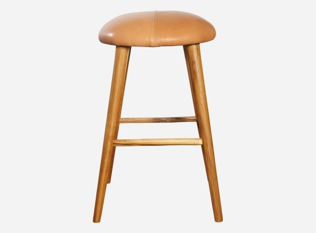 Stool, Soft, dia.: 32 cm, h.: 52 cm, 100% leather