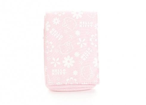 HELLO KITTY POUCH PORTAMACCHINA FOTOGRAFICA  Porta macchina fotografica con chiusura strep in tessuto lucidocolore rosa con disegni in bianco