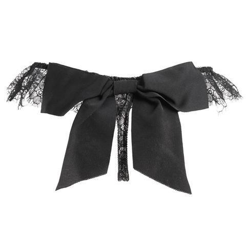 Black High Cut Lace Frill Tanga With Detachable Bow  #AkikoOgawa #Lingerie #2016AW  #SEDUCTION www.aolingerie.com