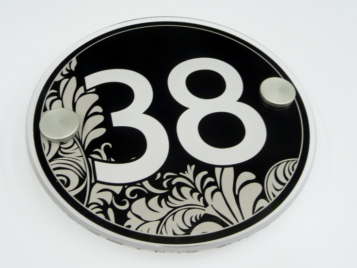 Superb House Number Sign 38... Decorative Address Number Images