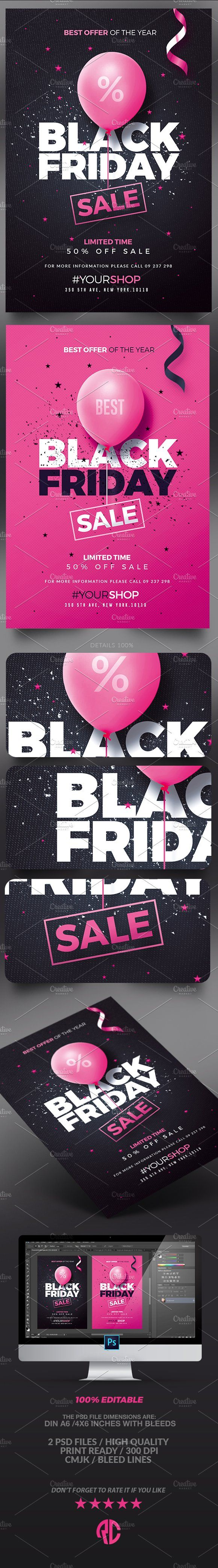 Great design doesn't have to be hard. Check out Black Friday Flyers by @romecreation on @CreativeMarket https://crmrkt.com/4GlA5 #blackfriday