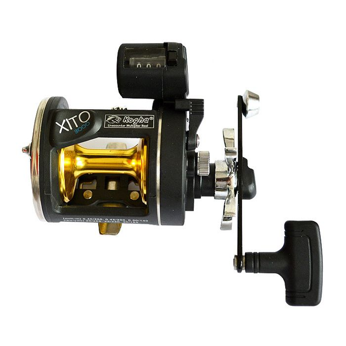 4BB 3.8:1 Boat Fishing Reel Trolling Reels With Electric Count Wheel Big Game Fish Wheel Bait Casting Drum Right